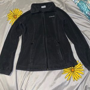 Black Columbia fleece jacket